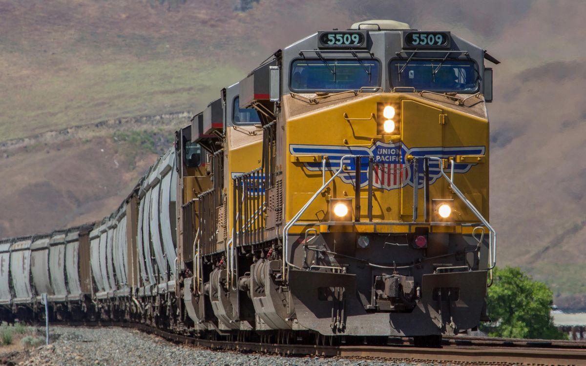 Фото бесплатно железная, дорога, поезд, локомотив, вагоны, грузовые, разное, разное