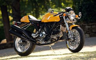 Фото бесплатно жёлтый ducati sport-1000, мотоцикл, байк