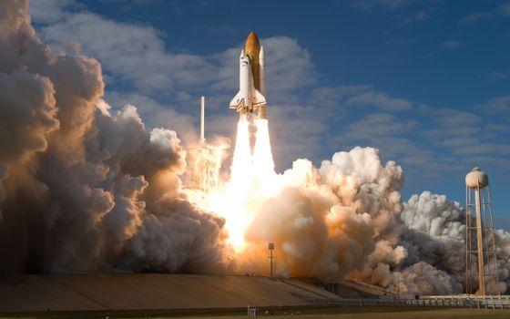 Фото бесплатно космический, корабль, шаттл, дискавери, взлет, космодром, космос