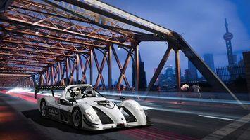 Фото бесплатно мост, железо, конструкция, дорога, автомобиль, колеса, гонка, соревнование, спорт