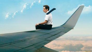 Бесплатные фото мужчина,полет,высота,небо,облака,крыло,ситуации