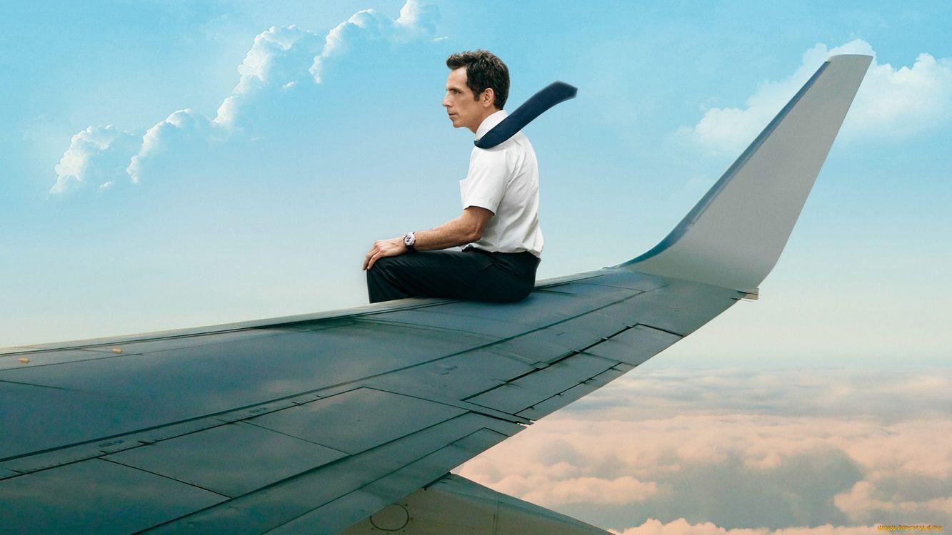 Фото бесплатно мужчина, полет, высота, небо, облака, крыло, ситуации, ситуации