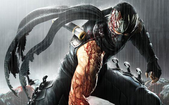 Бесплатные фото мутант,маска,ножи,мышцы,кровь,дождь,фантастика