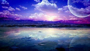 Бесплатные фото небо,облака,планета,отражение,вода,горизонт,природа