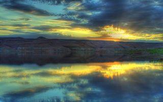 Фото бесплатно свет, лучи, горизонт