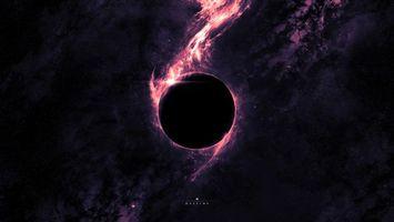 Фото бесплатно планета, свет, огонь