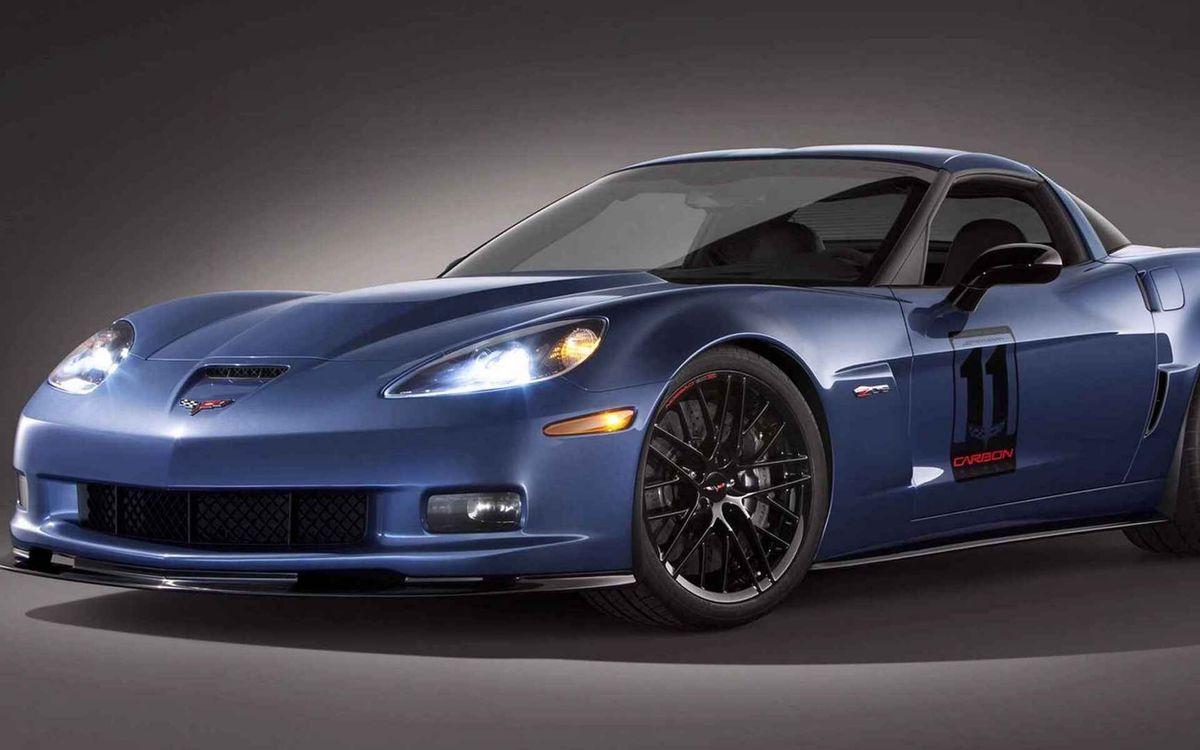 Free photo chevrolet, corvette, blue - to desktop