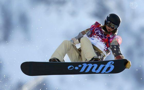 Фото бесплатно сноуборд, надпись, прыжок