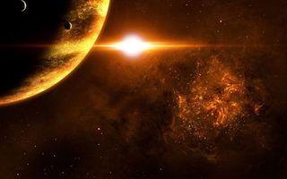 Фото бесплатно солнце, планеты, звезды