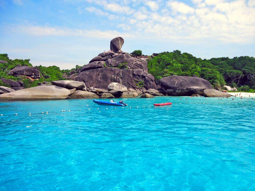 Фото бесплатно таиланд, море, остров, скалы, пляж, пейзажи, пейзажи
