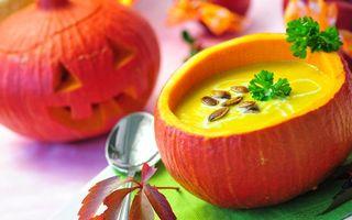 Бесплатные фото тыква,хэллуин,листья,осень,праздник,тарелка,каша