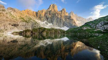 Бесплатные фото вода,озеро,горы,лес,деревья,облака,природа
