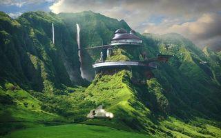 Photo free building, house, greenery