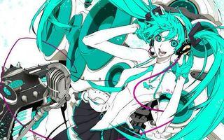 Заставки аниме, девушки, музыка