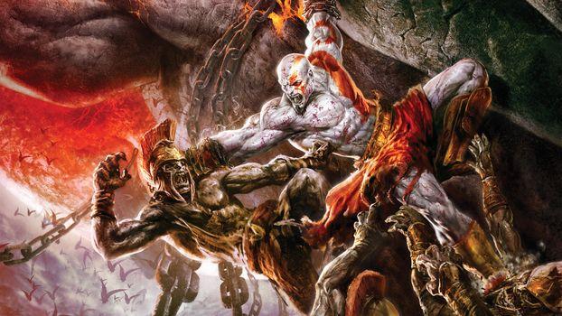 Бесплатные фото кратос,god of war,бог войны,сражение