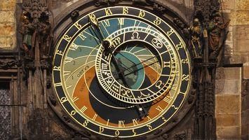 Бесплатные фото астрономия,часы,чехия,прага
