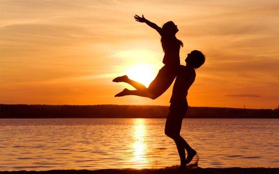 Фото бесплатно чувства, свобода, love, пара, sunset sensuality, pleasure, passion