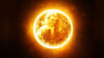 Обои звезда, солнце, оранжевое, яркое, космос, звезды, фантастика