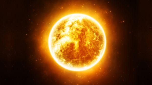 Photo free star, sun, orange