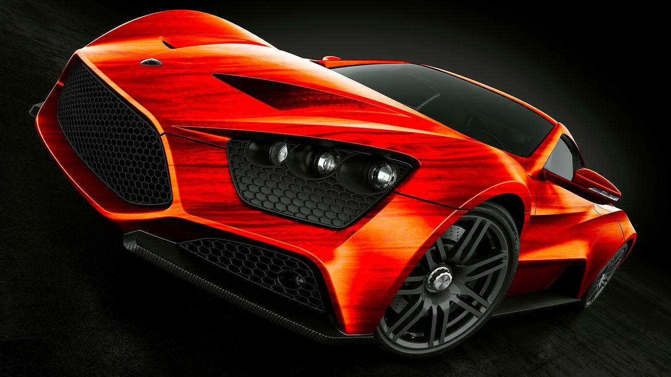 Фото бесплатно машина, автомобиль, красный, черный фон, машины, машины