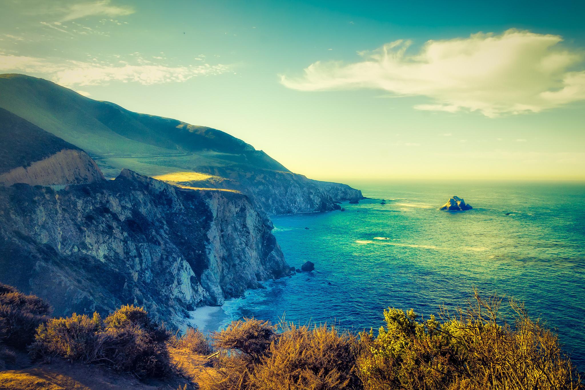 Big Sur, побережье Калифорнии, море