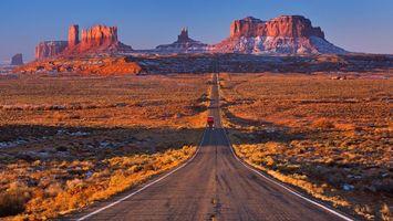 Photo free road, field, yellow