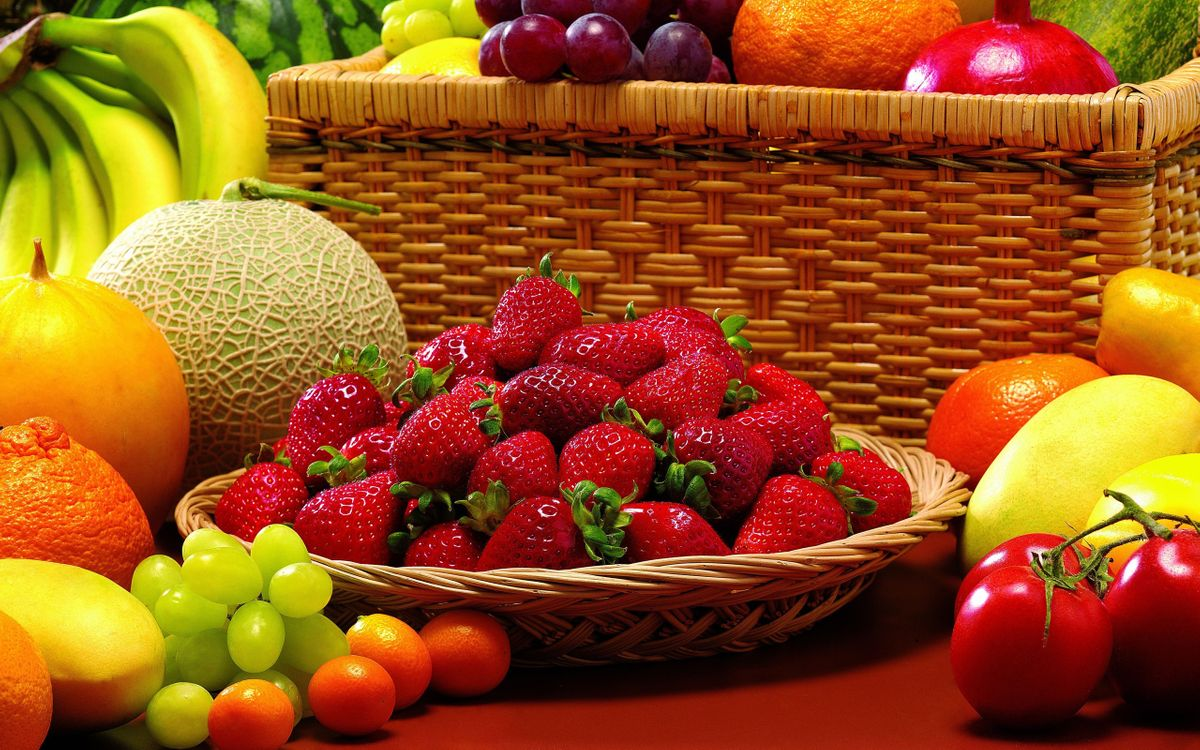 Обои фрукты, овощи, клубника картинки на телефон
