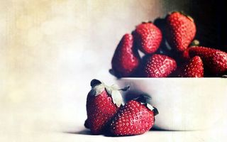Photo free strawberry, red, plate