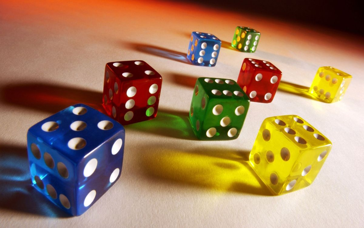 Photos for free dice, colorful, games - to the desktop