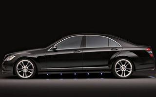 Фото бесплатно мерседес, черный, красивый, большой, диски, форма, машины