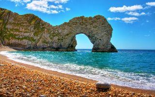 Фото бесплатно море, пляж, скалы