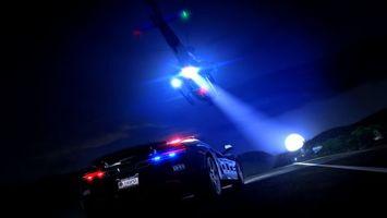 Бесплатные фото need for speed,rivals,ночь,погоня,полиция,мигалки,трасса