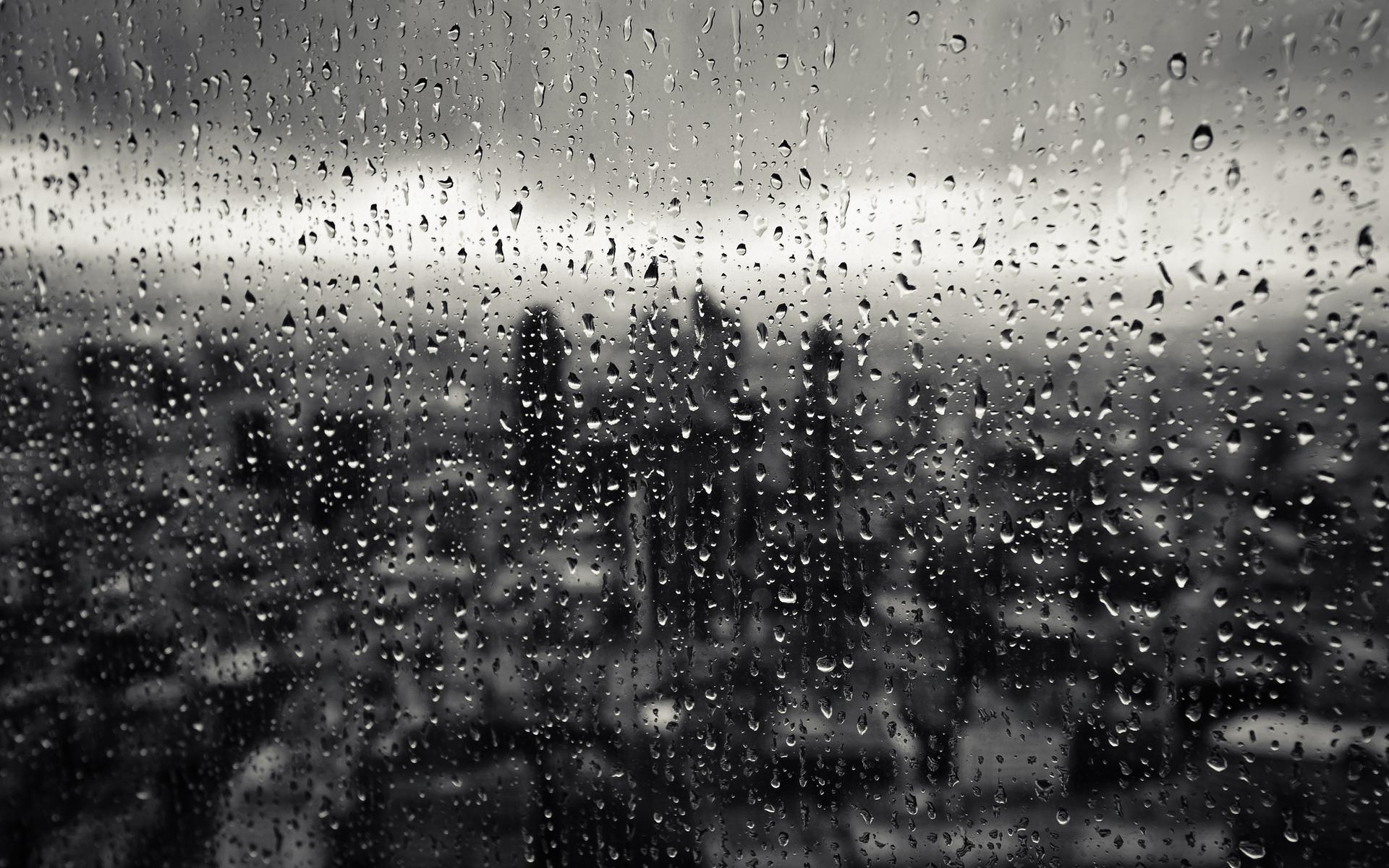 Обои окно, стекло, дождь, капли