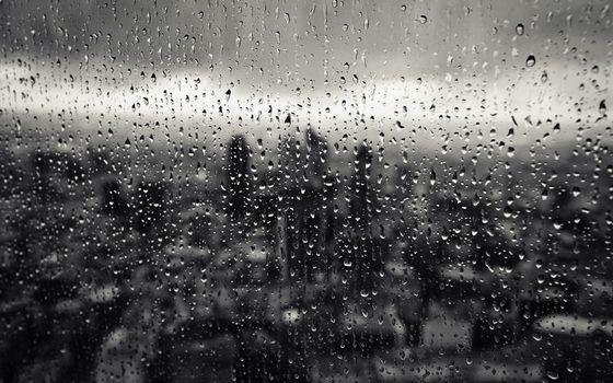 Photo free window, glass, rain