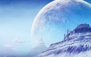 Бесплатные фото планета,замок,снег,лед,облака,необычно,абстракции