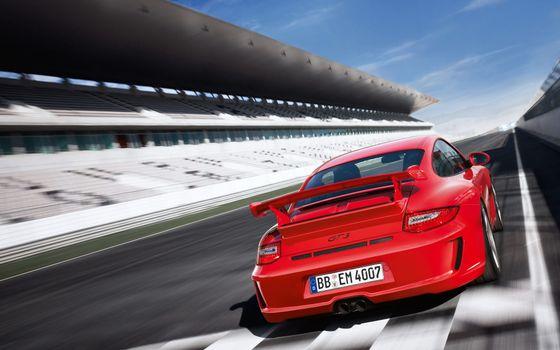 Photo free Porsche, Gt3, red