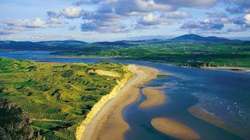 Бесплатные фото река,вода,берега,песок,холмы,трава,зеленая