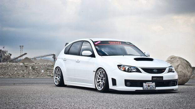Photo free subaru, white, tuning