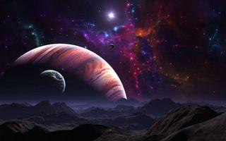 Фото бесплатно Галактика, Круг, Кластеры