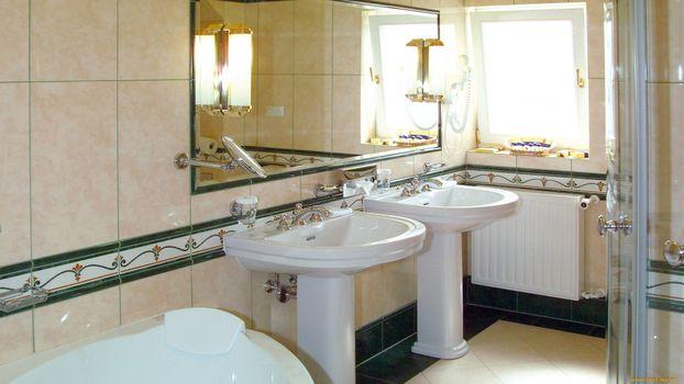 Фото бесплатно ванная, раковины, окно