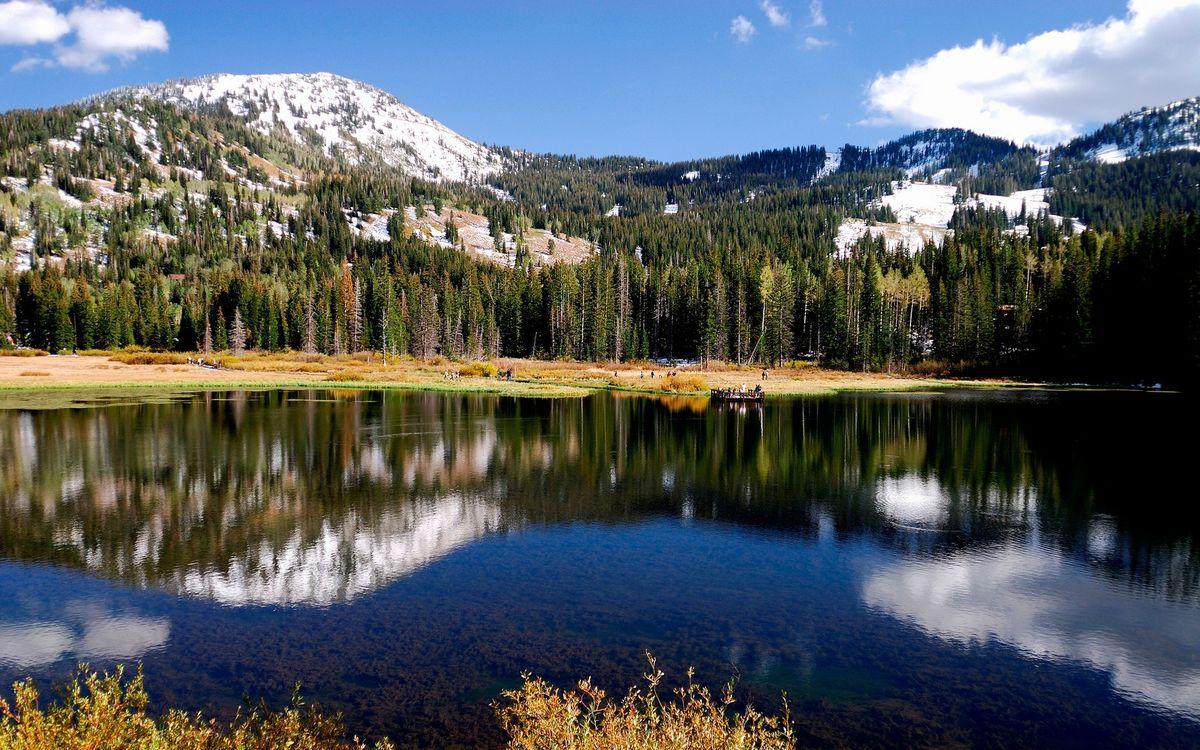 Фото бесплатно вода, река, горы - на рабочий стол