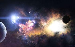 Фото бесплатно вселенная, планеты, созвездия