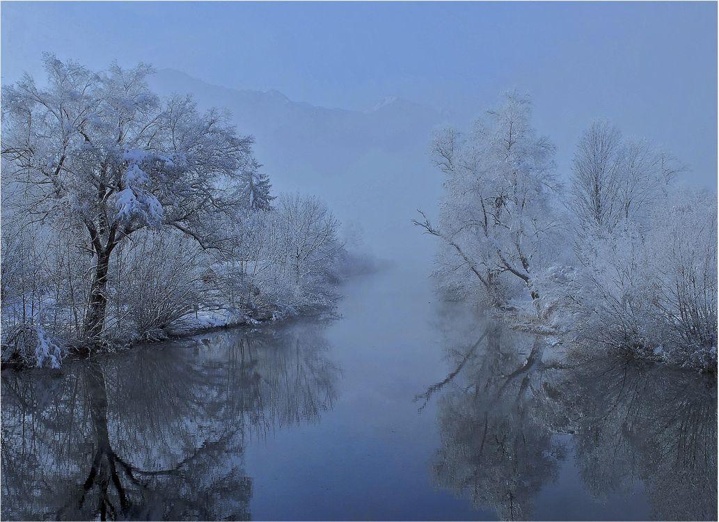 Фото бесплатно зима, река, деревья, пейзаж, разное