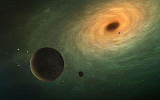 Фото бесплатно планеты, вселенная, метеориты