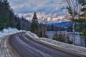 Бесплатные фото зима, дорога, снег, деревья, пейзаж