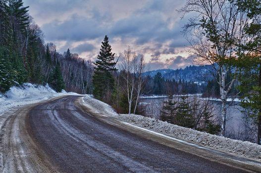 Photo free snow, landscape, winter road