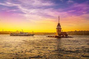 Бесплатные фото Девичья Башня, Стамбул, Турция, море, закат, пейзаж