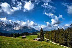 Бесплатные фото dolomiti,Италия,горы,холмы,дома,деревья,пейзаж