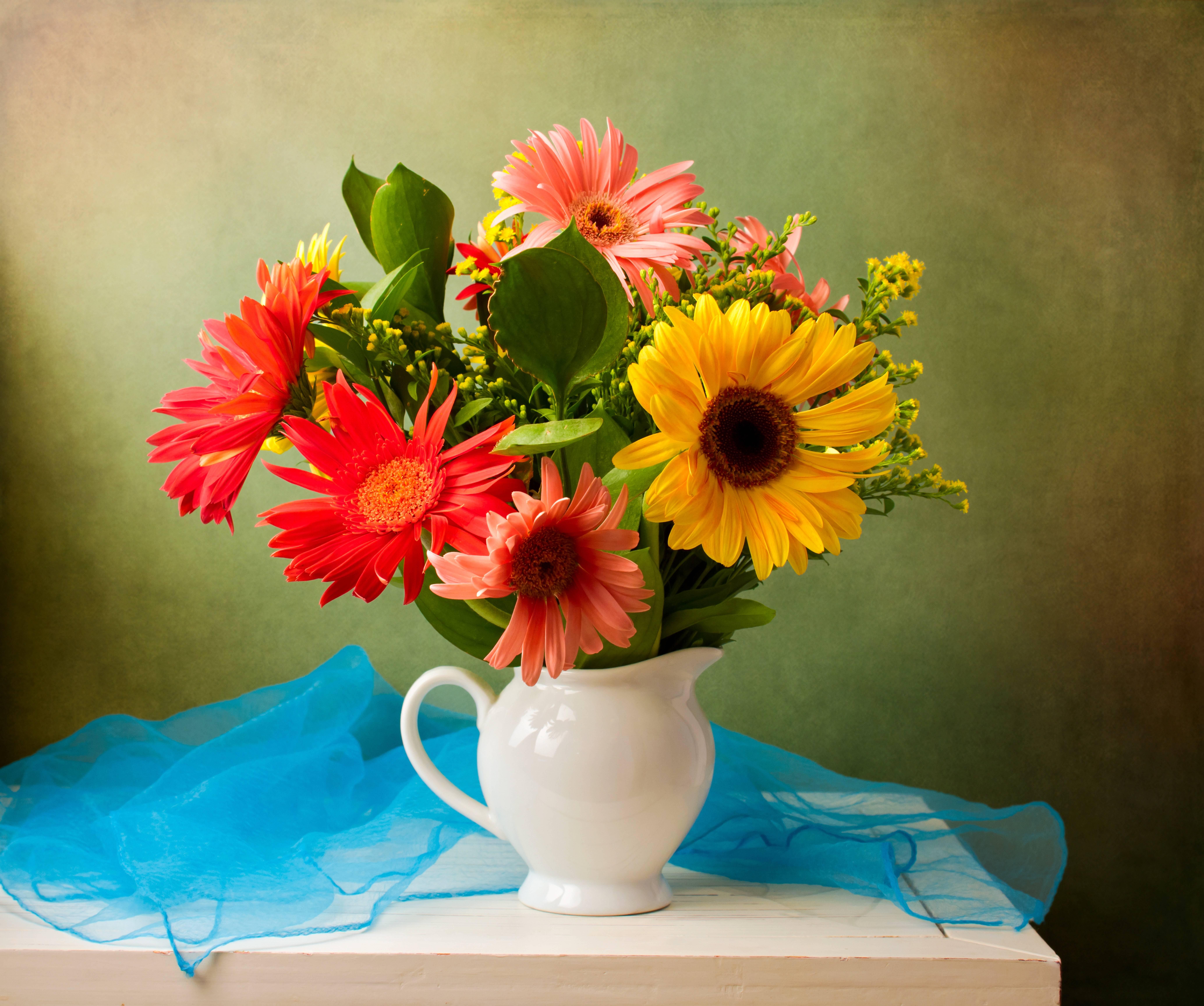 цветы, натюрморт, ваза