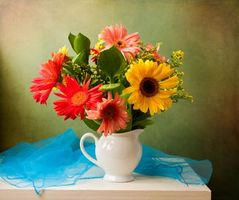 Photo free flowers, still life, vase